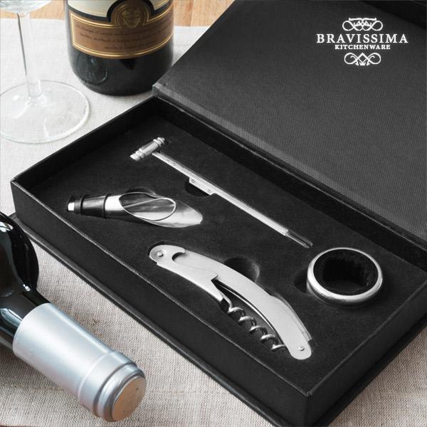 Zestaw Akcesoriów do Wina Bravissima Kitchen (4 części)