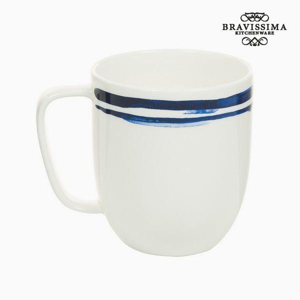 Cup Porcelán Pruhy Blue - Kitchen's Deco Kolekce by Bravissima Kitchen
