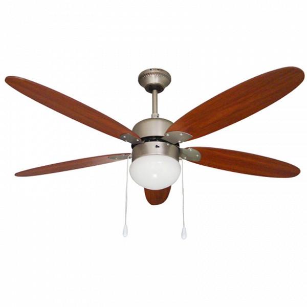 Stropní ventilátor se světlem Paeamer VCP52M 60W Letitá mosaz Dřevo