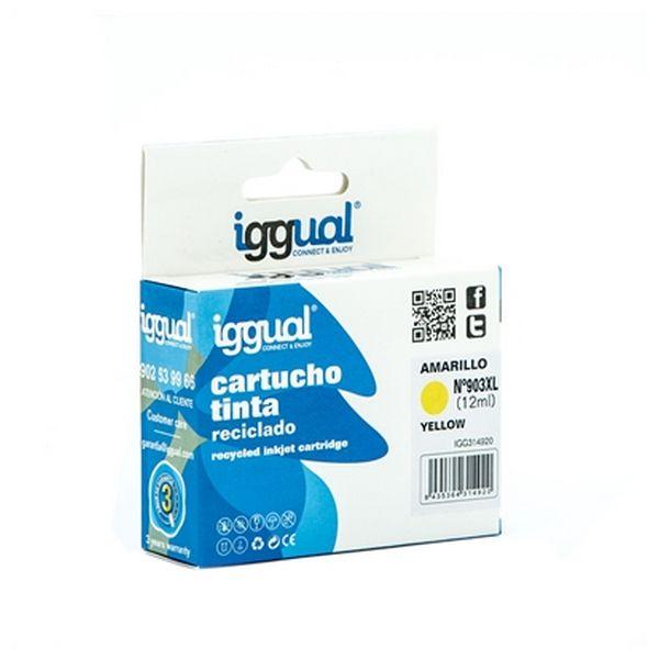 Recyklovaná Inkoustová Kazeta iggual IGG314920 HP 903 Žlutý