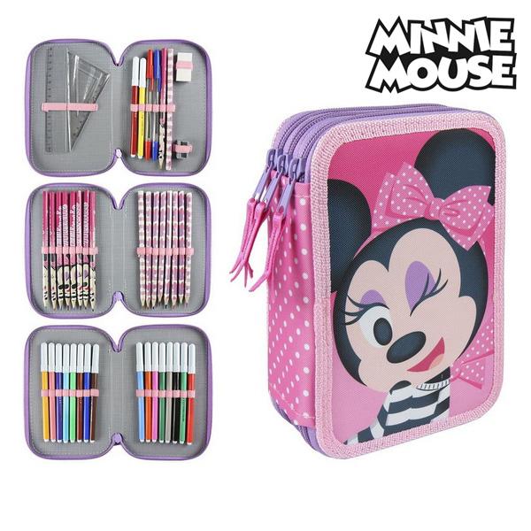 Piórnik potrójny Minnie Mouse 3608 Różowy