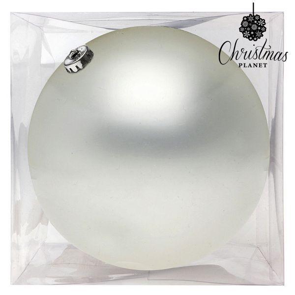Bombka świąteczna Christmas Planet 8842 15 cm Szkło Biały