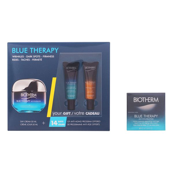 Kosmetický unisex set Blue Therapy Accelerated Creme Ttp Biotherm (3 pcs)