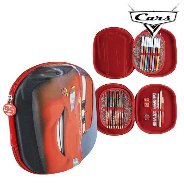 Piórnik potrójny Cars 93493 Czerwony