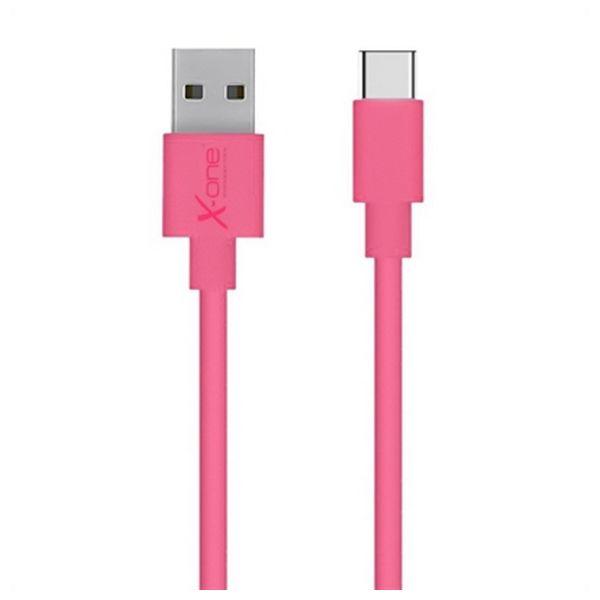 Kabel USB A 2.0 na USB C Ref. 101172 Fuksja