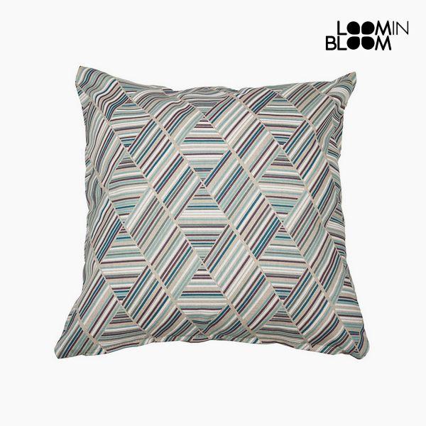 Polštářek Bavlna a polyester Modrý (45 x 45 x 10 cm) by Loom In Bloom