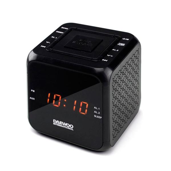 Zegar z Radiem Daewoo DCR-450 Czarny