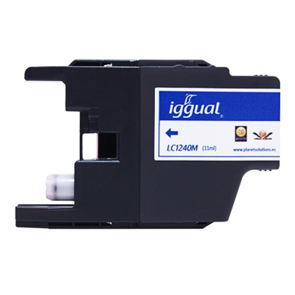 Recyklovaná Inkoustová Kazeta iggual Brother PSILC1240M Purpurová