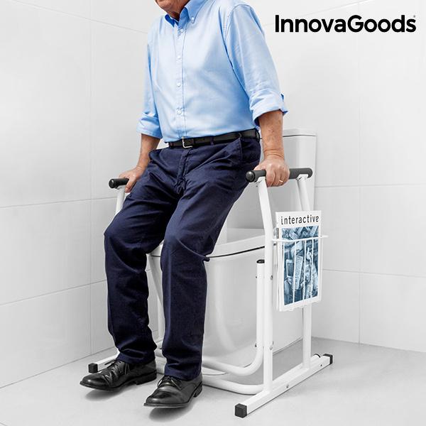 Uchwyt Bezpieczeństwa do WC ze Stojakiem na Czasopisma InnovaGoods