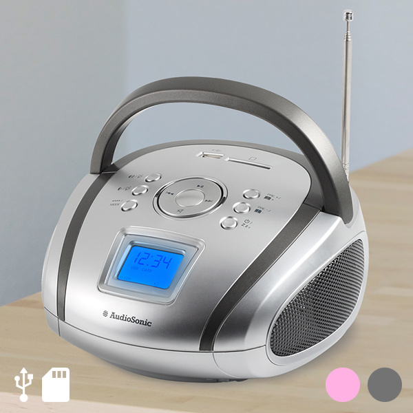 Rádio s SD USB MP3 AudioSonic - RD1565 Šedý