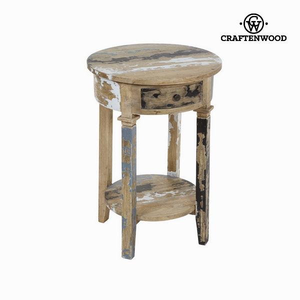 Kulatý podstavec ze škrábaného dřeva - Poetic Kolekce by Craftenwood
