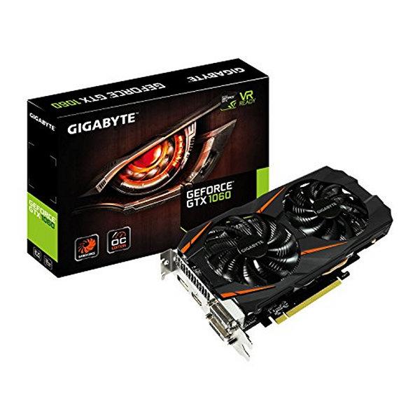 Herní grafická karta Gigabyte ITGPE50417 GV-N1060WF2OC 3GB GDDR5 PCI Express 3.0 x 16 6-pin x 1 Čern