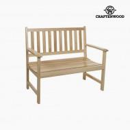 Lavice Topolové dřevo (113 x 99 x 63 cm) by Craftenwood