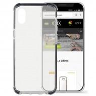 Puzdro na mobil Iphone X Flex Armor Transparentná