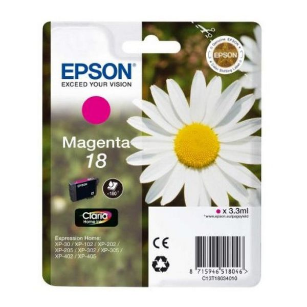 Originální inkoustové náplně Epson C13T18034010 Purpurová