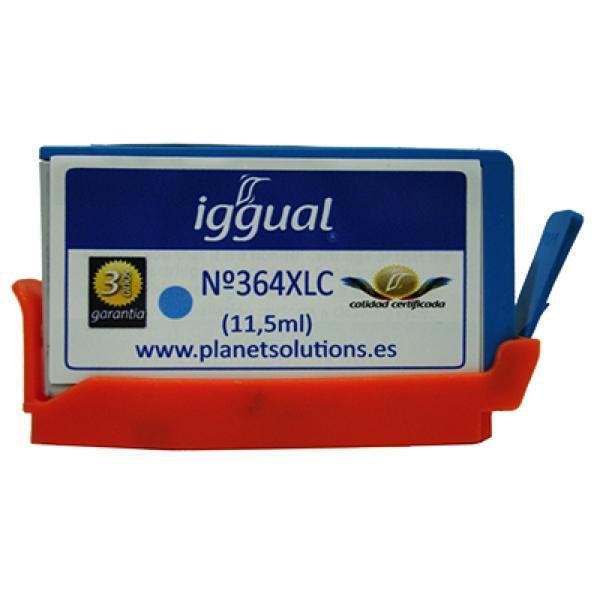 Recyklovaná Inkoustová Kazeta iggual HP PSICB323EE Azurová