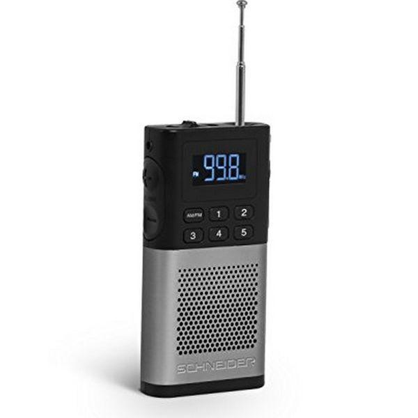Tranzistorové rádio SCHNEIDER PICCOLO AM/FM LED Šedý