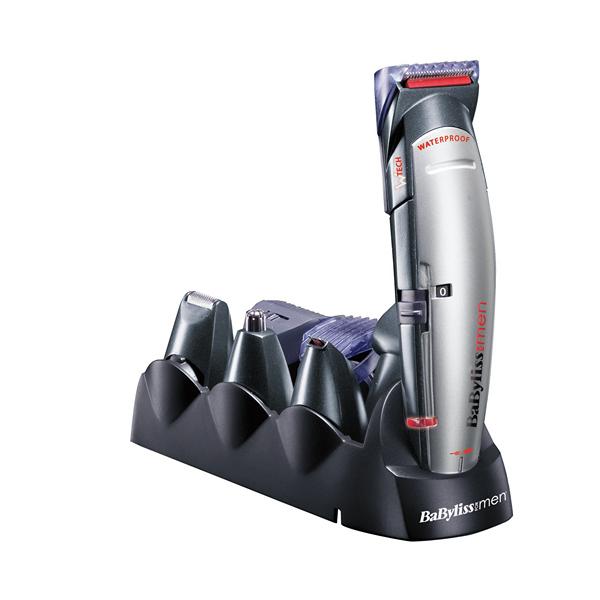 Trymer Bezprzewodowy Babyliss E837E+10ACC LED Waterproof 10 x 1 Czarny Szary