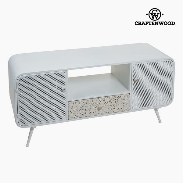 TV stolek Jedlové dřevo Bílý (3 zásuvky) (120 x 40 x 54 cm) by Craftenwood