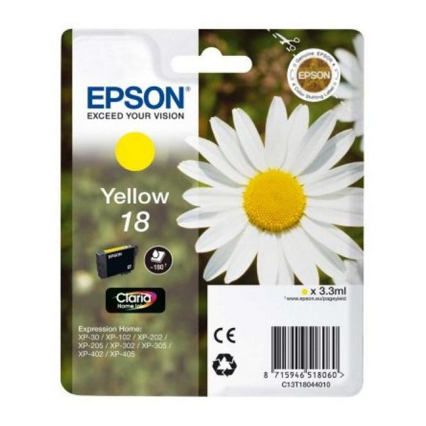 Originální inkoustové náplně Epson C13T18044010 Žlutý