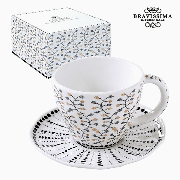 Kubek do naparów Porcelana Kvety by Bravissima Kitchen
