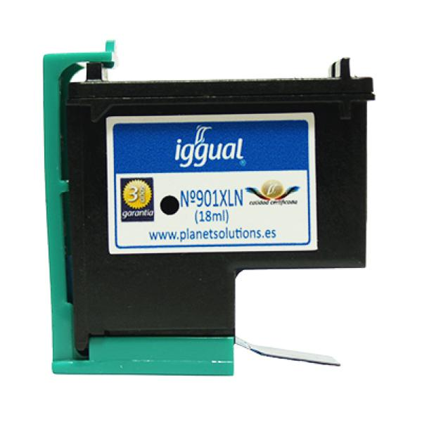 Recyklovaná Inkoustová Kazeta iggual HP PSICC654A Černý