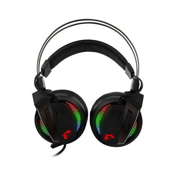 Słuchawki Gaming z mikrofonem MSI S37-2100970-Y86 USB LED Czarny