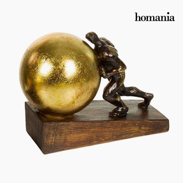 Dekorativní postava Pryskyřice Zlato (23 x 13 x 17 cm) by Homania