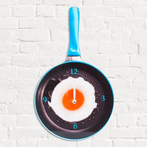 Zegar Ścienny Patelnia z Jajkiem