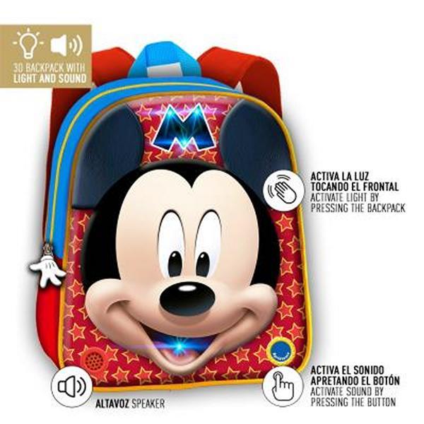 Školní batoh 3D Mickey Mouse