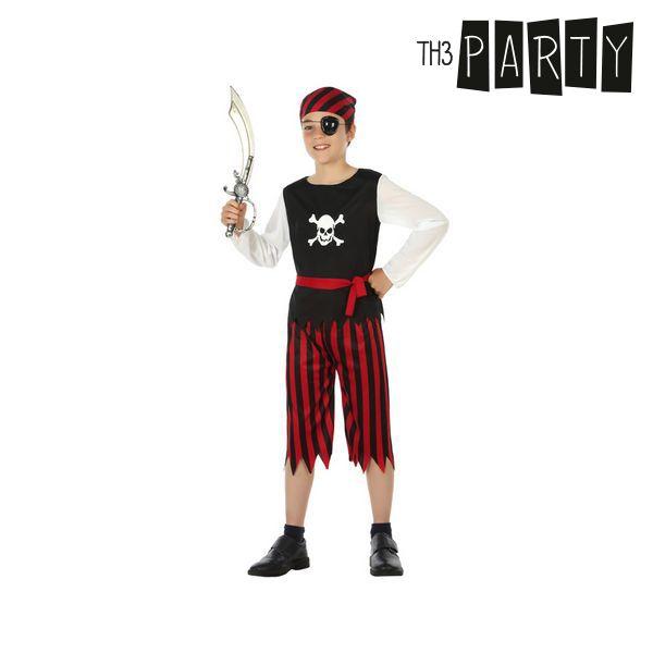 Kostým pro děti Th3 Party Pirát Červený - 7–9 roků