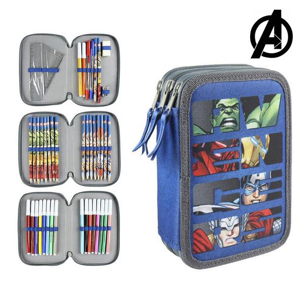 Piórnik potrójny The Avengers 8177 Niebieski