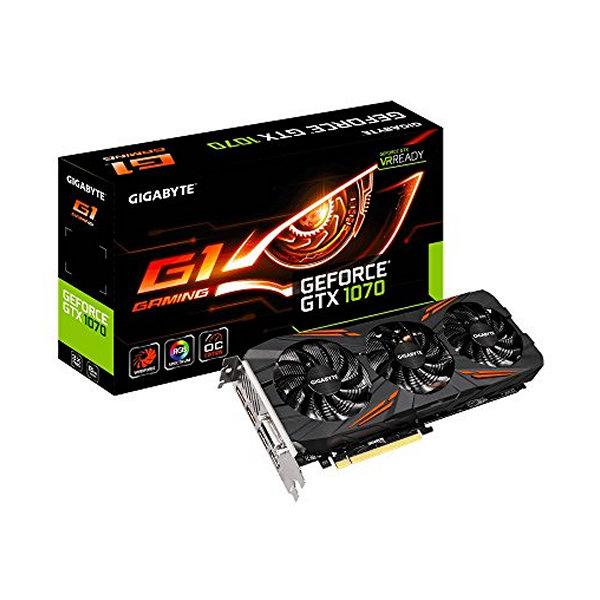 Herní grafická karta Gigabyte GV-N1070G1 NVIDIA GTX 1070 GAMING 8 GB