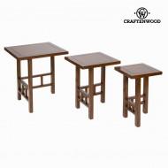 Sada 3 stolků - Serious Line Kolekce by Craftenwood