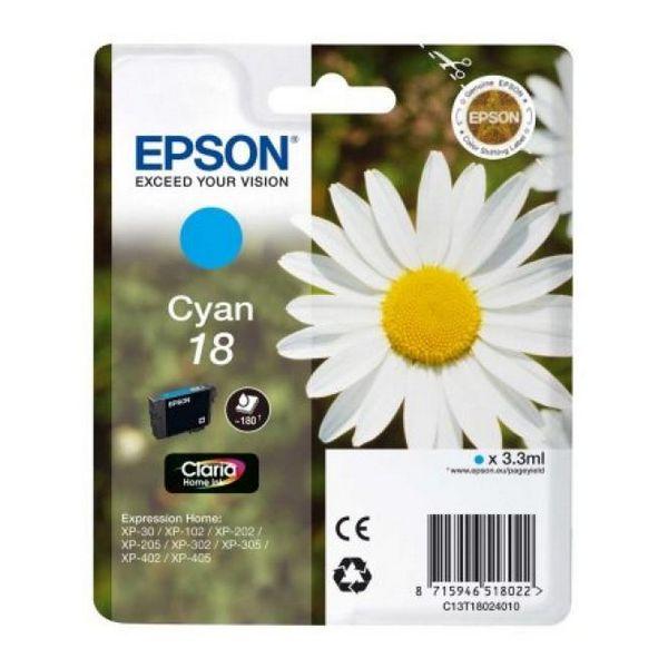 Originální inkoustové náplně Epson C13T18024010 Azurová