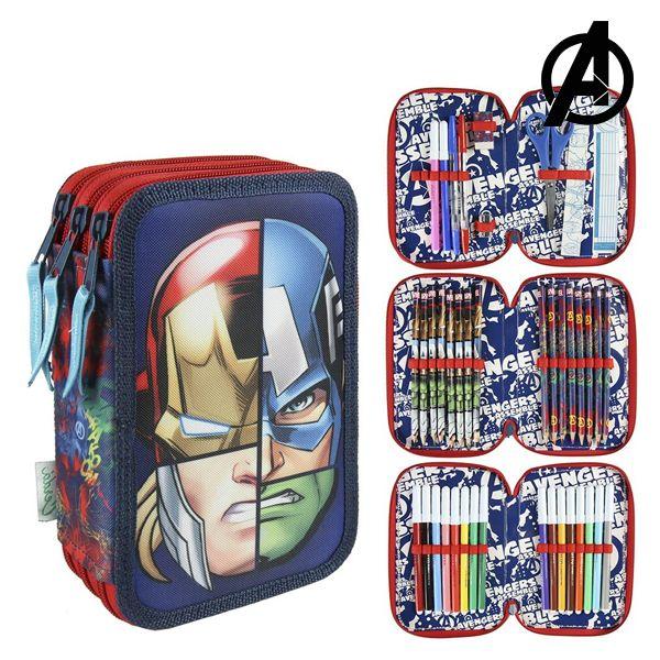 Piórnik potrójny The Avengers 58522 Granatowy