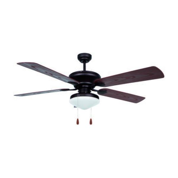 Stropní ventilátor se světlem Obergozo CP 73132 60W Černý