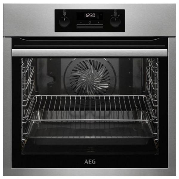 Piekarnik pirolityczny Aeg BPS331120M 74 L LCD 3000W Stal nierdzewna Czarny
