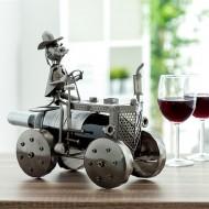 Kovový Stojan na Víno Traktor