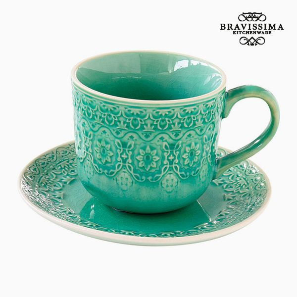 Kubek do naparów Porcelana Kolor zielony by Bravissima Kitchen