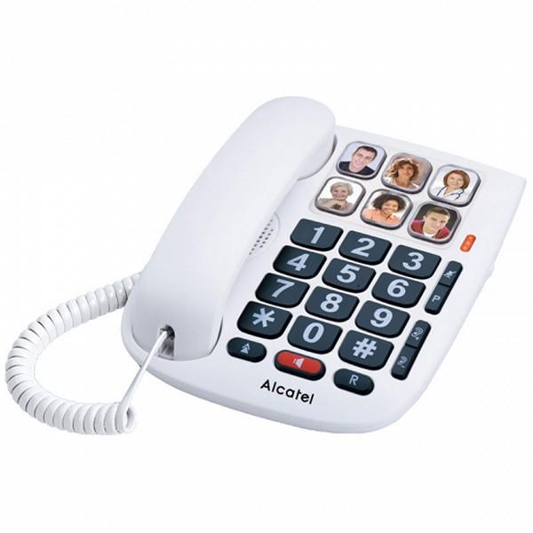Telefon stacjonarny dla Seniorów Alcatel TMAX 10 LED Biały