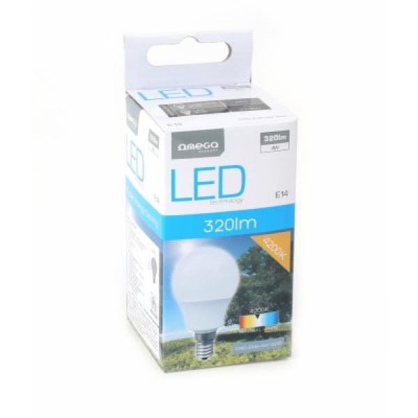Sférická LED Žárovka Omega E14 4W 320 lm 4200 K Přirozené světlo