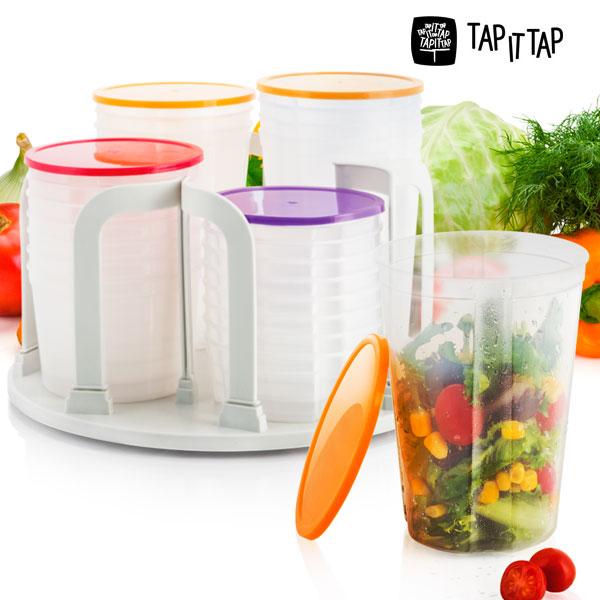 Lock Stock Spin Sada Plastových Nádob na Potraviny (49 kusů)