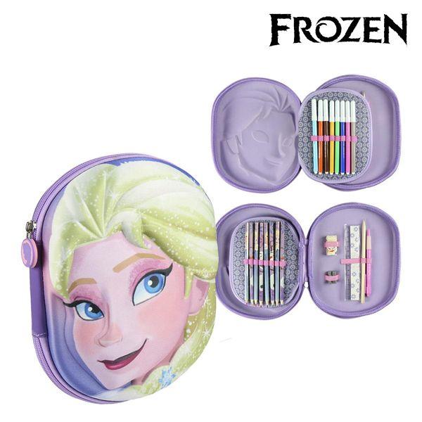 Piórnik potrójny Frozen 58454 Liliowy