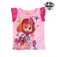 Koszulka z krótkim rękawem dla dzieci The Paw Patrol 6749 Różowy (rozmiar 4 lat)