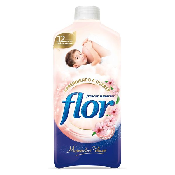 Płyn do Płukania Tkanin Flor Happy Moments 1,4 l (64 prania))