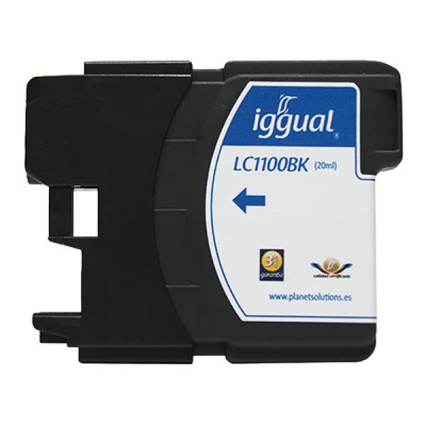 Recyklovaná Inkoustová Kazeta iggual Brother PSILC1100B Černý