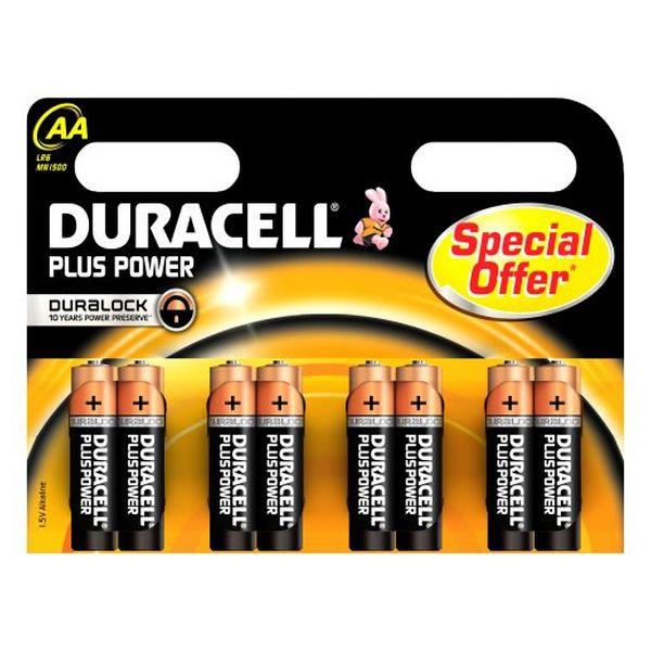 Alkalické Baterie DURACELL Plus Power DURLR6P8B LR6 AA 1.5V (8 pcs)