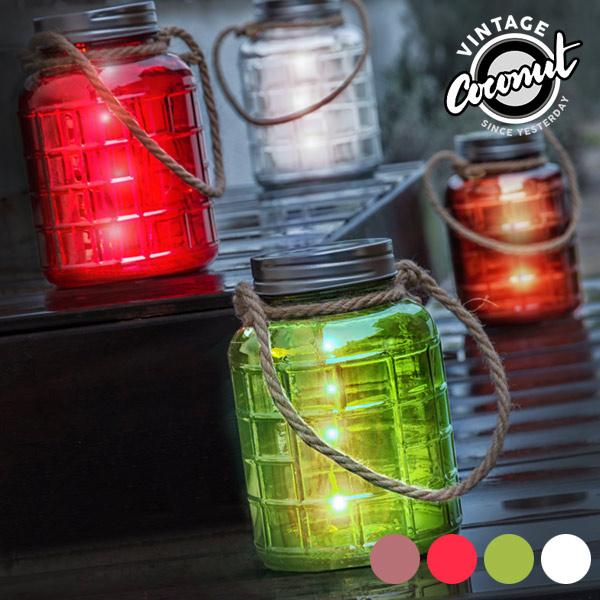 Dekorační LED Sklenice Grange Vintage Coconut - Průhledný