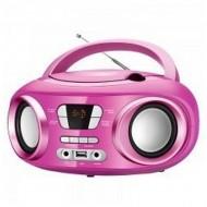 Rádio s CD Bluetooth MP3 BRIGMTON W-501 USB Růžový